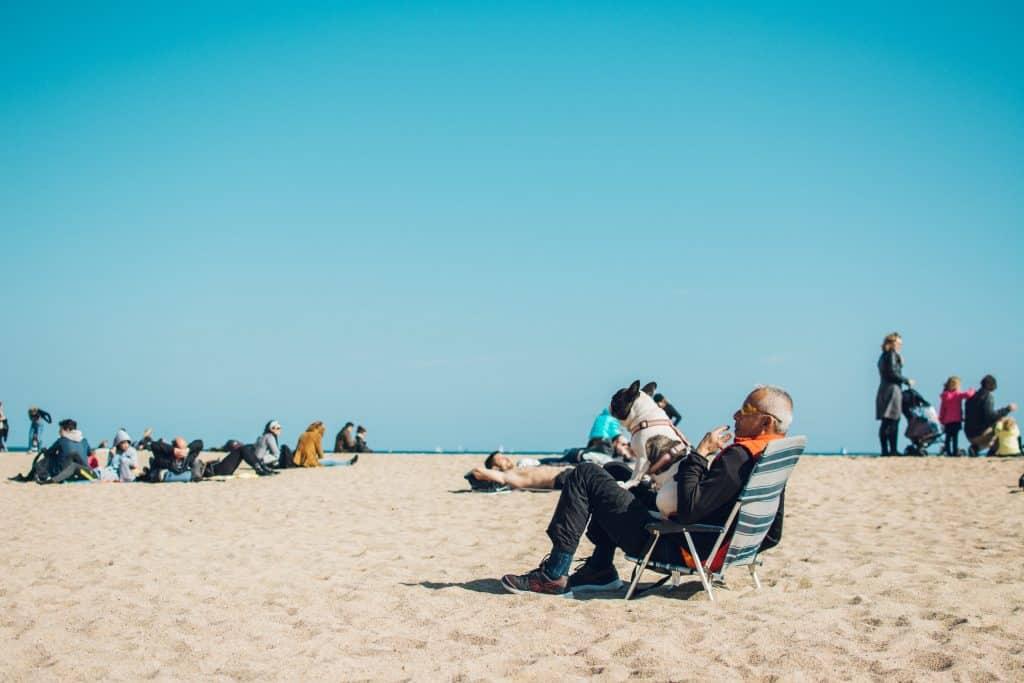 Retirement People on Seashore