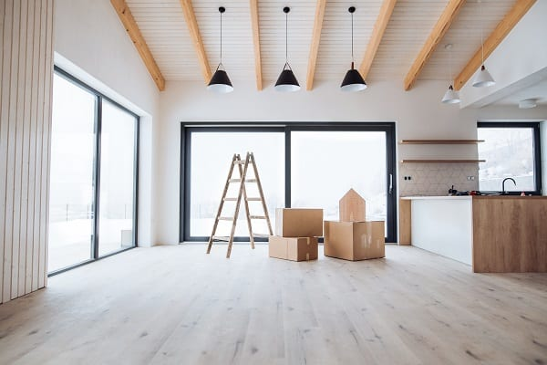 an interior of a new house or flat furnishing a ne FBVZSUE