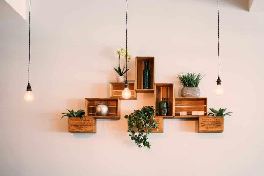 Makeshift Shelves for a Bedroom